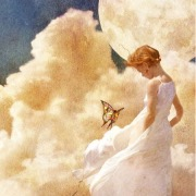 Девочка и бабочка